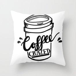 Coffee Crazed Throw Pillow