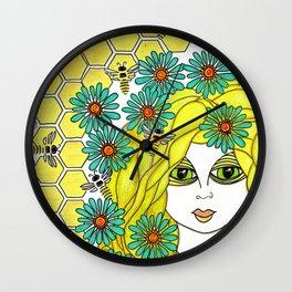 The Bee Keeper Wall Clock