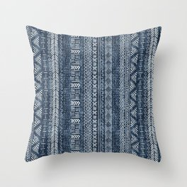 Mud Cloth Stripe Throw Pillow