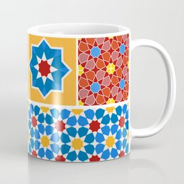 Moroccan pattern, Morocco. Patchwork mosaic with traditional folk geometric ornament. Tribal orienta Coffee Mug