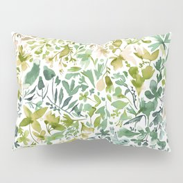 Flowers and plants ivy green Pillow Sham