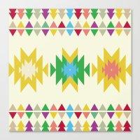 folk Canvas Prints featuring Folk by MihaMiha
