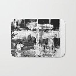 Gray Abstract Bath Mat