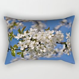 Magic White Cherry Blossom Dream Rectangular Pillow