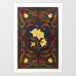 Victorian Vines Book Art Print