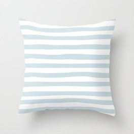 Seaside stripes Throw Pillow