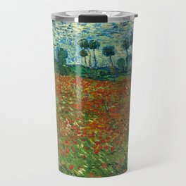 Vincent Van Gogh Poppy Field Travel Mug