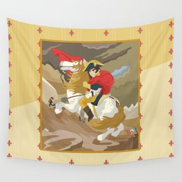 Napoleon Crossing the Alps by  Jacques-Louis David  Wall Tapestry