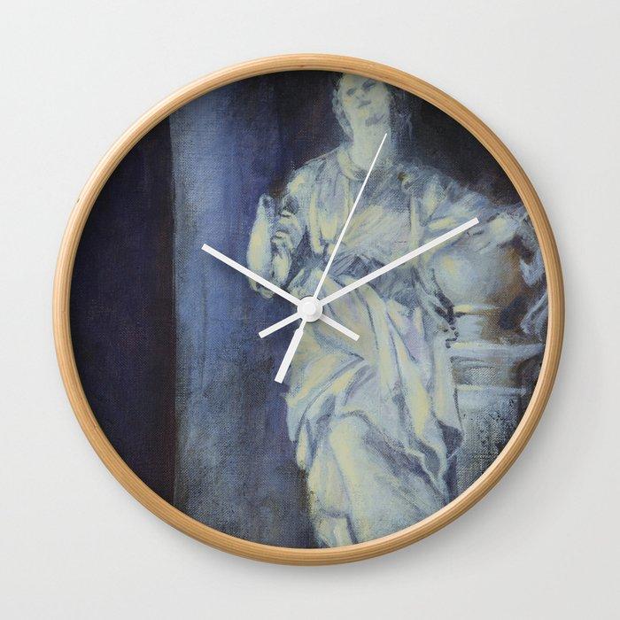 Female statue Wall Clock