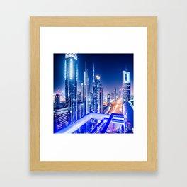 dubai landmark Framed Art Print