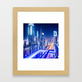 dubai landmark Framed Art Print