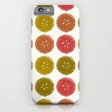 Autumn pie flower dots iPhone 6s Slim Case
