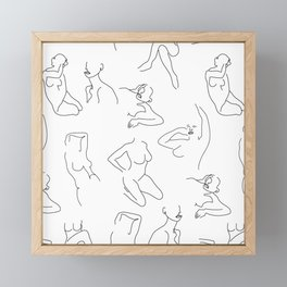 Abstract Woman Drawing Figures Framed Mini Art Print