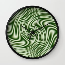 Spearmint Ribbon Candy Fractal Wall Clock