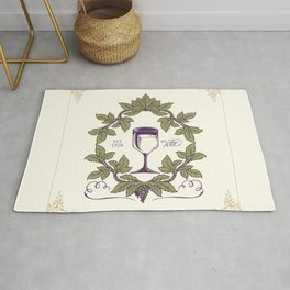 Vintage Wine Label Rug