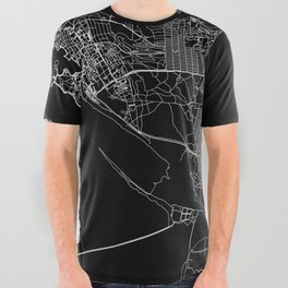 Vancouver Black Map All Over Graphic Tee