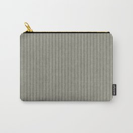 linen textured stripes - olive green Carry-All Pouch