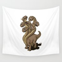 hydra Wall Tapestries featuring Hydra by Jada Fitch
