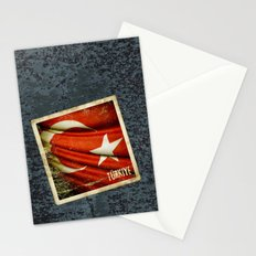 Grunge sticker of Turkey flag Stationery Cards