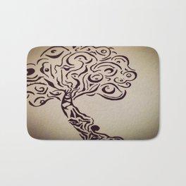 Ink Doodle Eyeball Tree Bath Mat