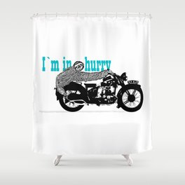 Sloth - easy rider Shower Curtain
