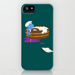 SUICIDAL SMURF  iPhone Case