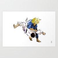 Judo Throw Art Print