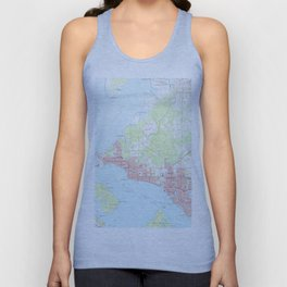 Vintage Map of Panama City Florida (1956) Unisex Tank Top