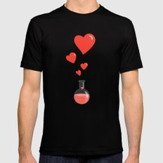Love Chemistry Flask of Hearts Mens Fitted Tee Black MEDIUM