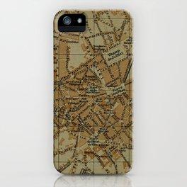 Vintage Limoges France Map (1895) iPhone Case