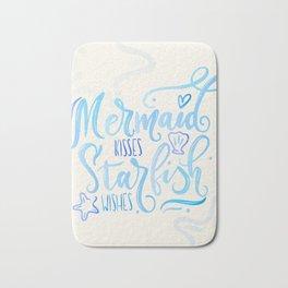 Mermaid kisses & Starfish wishes Bath Mat