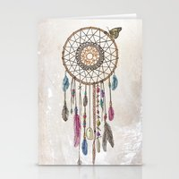 catcher in the rye Stationery Cards featuring Lakota (Dream Catcher) by Rachel Caldwell