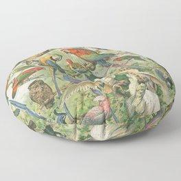 Parrots and Friends Floor Pillow