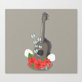 Ukelele Bloom Canvas Print