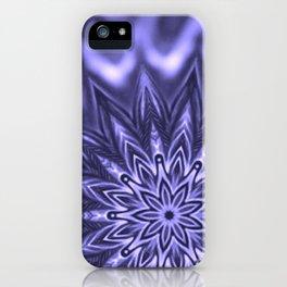 Purple ice Swirl mandala iPhone Case