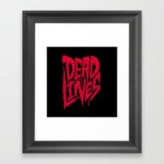 Deadlines Framed Art Print