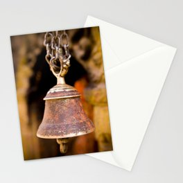 Antique Brass Temple Bell Nepal Stationery Cards