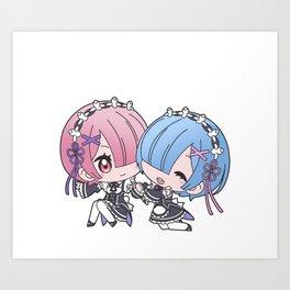 maid twins Art Print