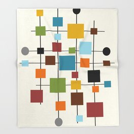 Mid-Century Modern Art 1.3 Throw Blanket