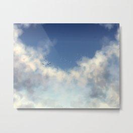 Fly Hight Metal Print