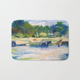 Chincoteague Horses painting Bath Mat