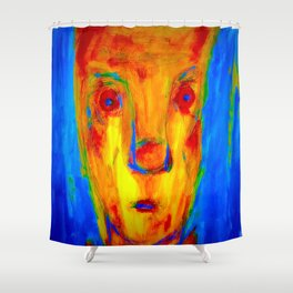Enduring Red. Shower Curtain