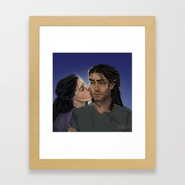 Elide and Lorcan Framed Art Print