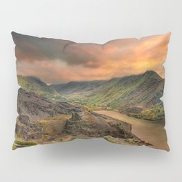 Snowdon Mountain from Slate Quarry Llanberis Pillow Sham