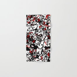 Blossom black and red Hand & Bath Towel