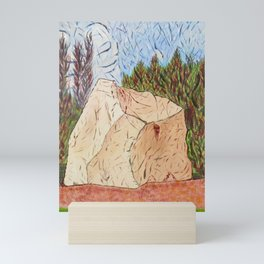 Rock by Quarry Park Mini Art Print