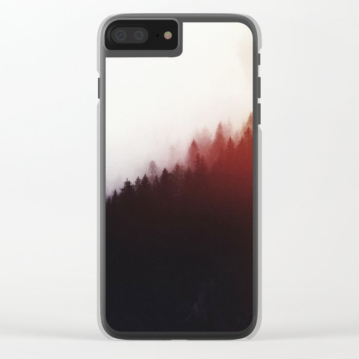 Watercolor woods Clear iPhone Case
