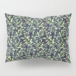 Snowberry on navy. Watercolor Pillow Sham