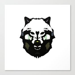 Face Wolf - Graphic Logo Canvas Print
