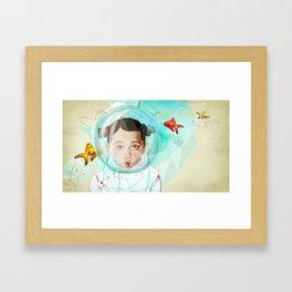 Fish Girl Framed Art Print